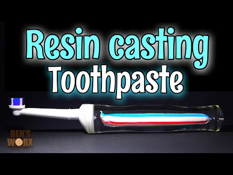 Resin casting toothpaste with ArtCast slow set epoxy