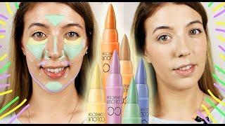 цветные корректоры и консилеры // Идеальная кожа как у моделей косметикой с Алиэкспресс
