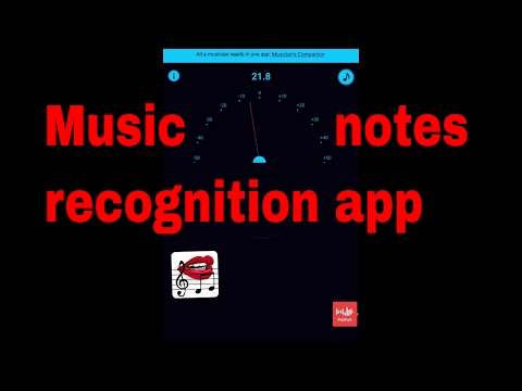 Music notes recognition app