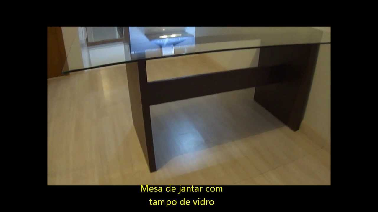 Sala Jantar Mesa em MDF com tampo de vidro  YouTube