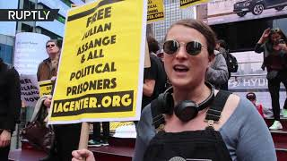 'We are not going to shut up': New York protesters demand freedom for Assange and Manning