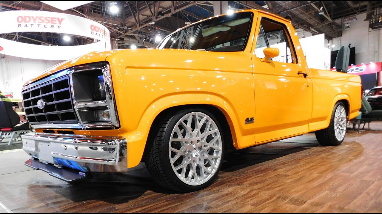 1985 ford f 150 body swap street truck the sema show 2016
