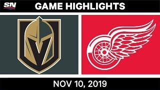 NHL Highlights   Golden Knights vs. Red Wings – Nov. 10, 2019