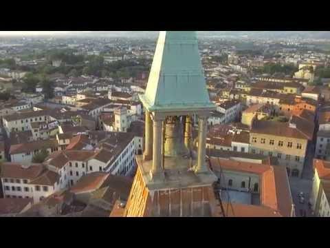Piazza del Duomo Pistoia drone riprese aeree