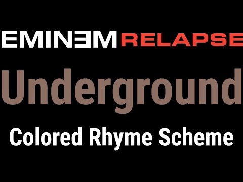 Eminem - Underground - [Lyric Video & Colored Rhyme Scheme]