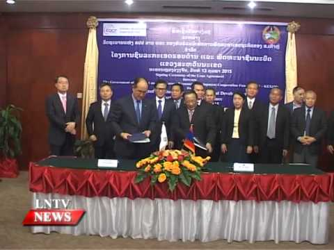 Lao NEWS on LNTV: The Export-Import Bank of Korea inks US$46 mill loan.17/2/2015