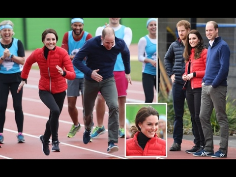 Kate Middleton races Prince Harry at Olympic park