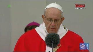 Homilia papieża Franciszka wygłoszona na Placu Wolności w Tallinie