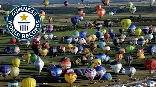 SPOTLIGHT - Most Hot Air Balloons In Flight