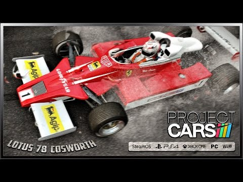 Project CARS Onboard - F1 Lotus 78 Cosworth (Rain Weather) @ Spa-Francorchamps