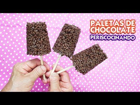 Paletas de Choco Krispis con Chocolate - Periscocinando