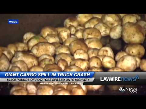 Giant Cargo Spill in Truck Crash | Law Wire News | May 2016