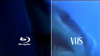 Deep Blue Sea 1999 Bluray Restoration Vs Vhs Tape Footage