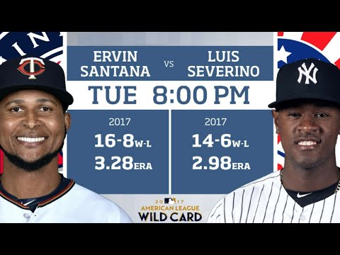 Wild Card Game Preview: MIN Twins (Oct. 3)
