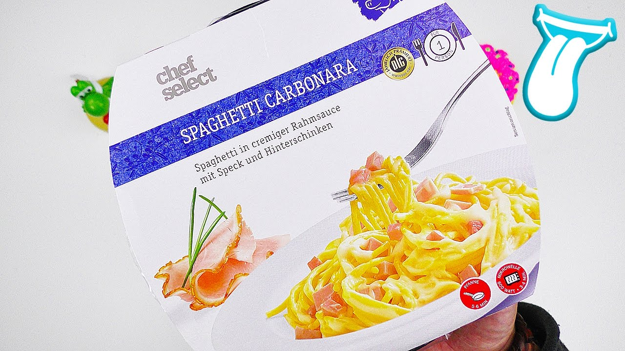 spaghetti carbonara aus der mikrowelle selber machen lidl junkfood im taste test in aller. Black Bedroom Furniture Sets. Home Design Ideas