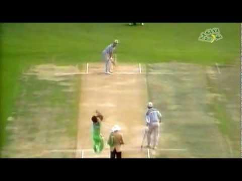 Aqib Javed slow ball wicket