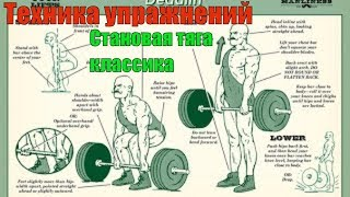 Становая тяга. Классика. Правильный Бодибилдинг. Техника #4