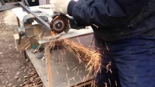 Тест отрезного круга по металлу HILTI 125х1(Профильная труба 40х20х2 http://aysistor.ru/catalog/otreznye_krugi_po_metallu_i_nerzhavejushhej_stali/, 2014-11-16T17:53:22.000Z)