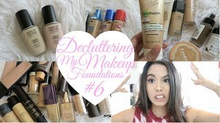 DECLUTTER MY MAKEUP COLLECTION + GIVEAWAY 2017! EPISODE #6 FOUNDATIONS