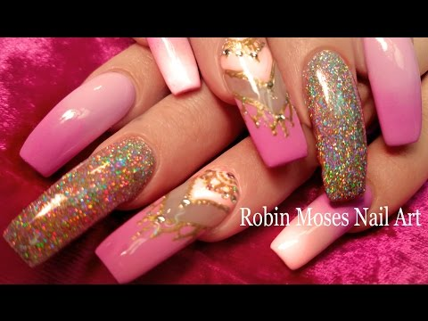 DIY Holo Chrome Glitter Nails | Sparkle Princess DIVA Nail Art Design Tutorial