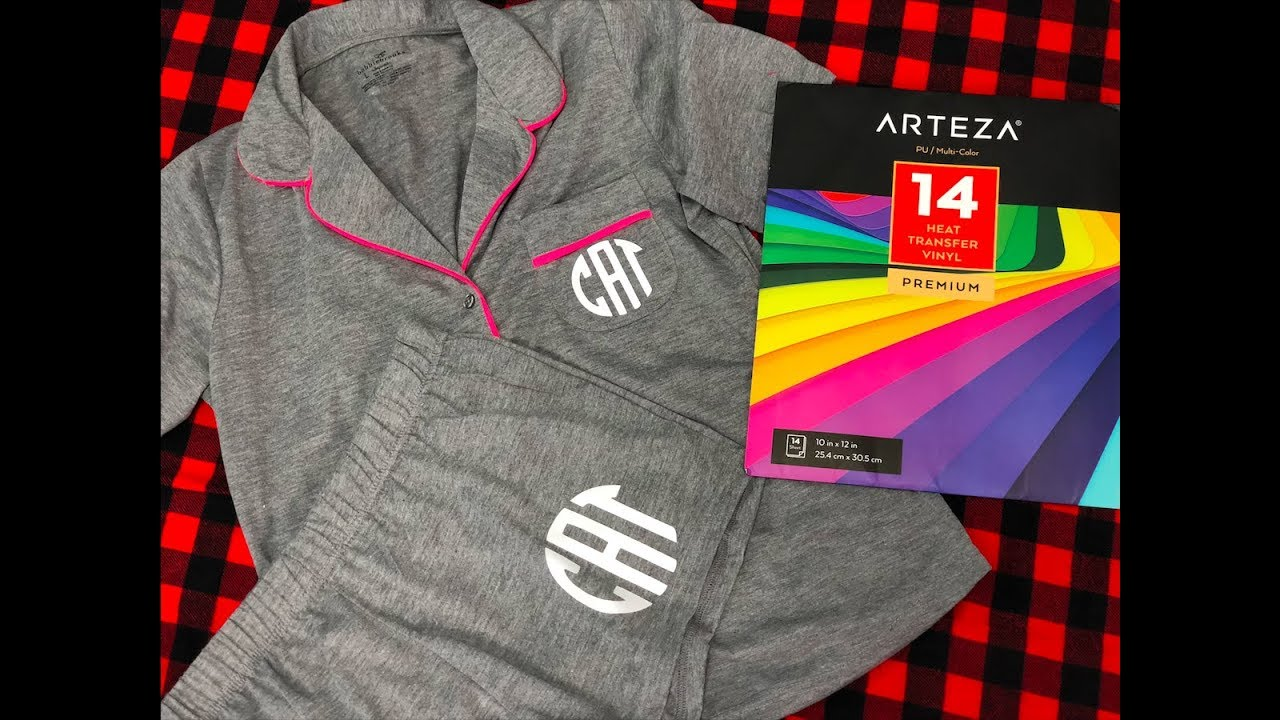 Arteza Heat Transfer Vinyl Arteza Htv Review How To Monogram A Pajama Set