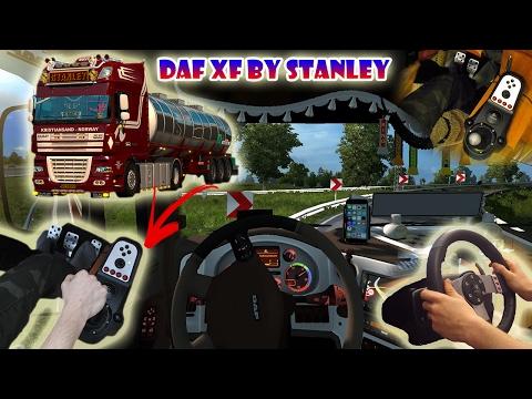 ★ DAF XF by Stanley - Euro Truck Simulator 2 with Logitech G27 | Wheel/feet camera #11 ★