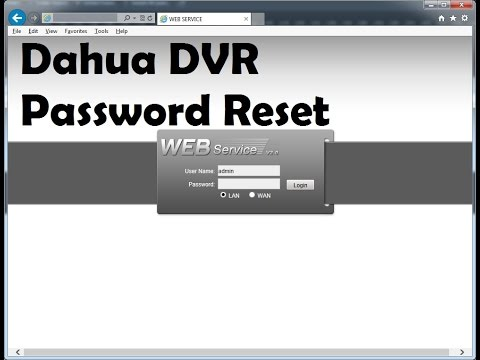 Dahua Admin Account Password Resetter Process !!!