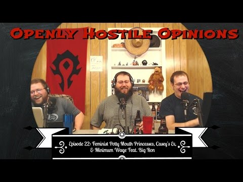 Episode 22 - Feminist Potty Mouth Princesses, Casey's Ex, and Minimum Wage featuring Big Ron