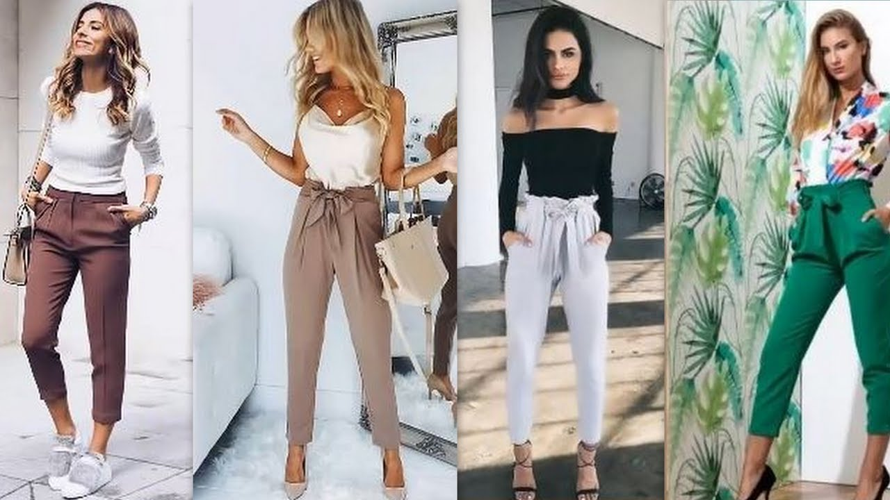 Outfit Para Toda Ocasion Con Pantalones De Vestir 2018 Youtube