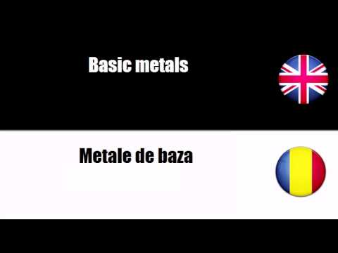 LEARN ROMANIAN = Basic metals