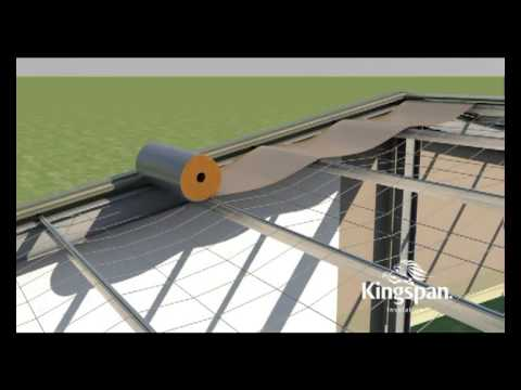 Superb Kingspan AIR CELL Installation Video   Commercial Metal Roof Insulation