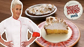 Anne Burrell Makes an Orange Meringue Tart with Graham Cracker Crust | Worst Cooks in America