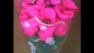 Смотреть видео, цветы из бумаги, розы, букет.(Розы, без сомнения, является одним из самых красивых , лучших цветов в мире, из-за чего и пользуется огромной..., 2015-12-02T15:55:31.000Z)