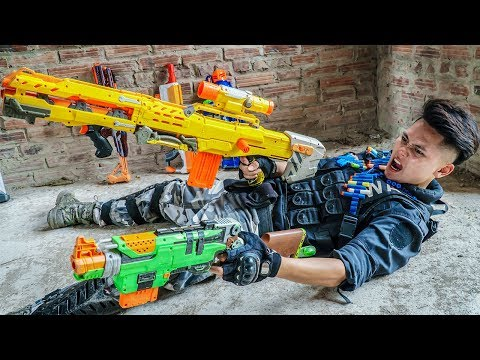 LTT Nerf War : Couple SEAL X Warriors Nerf Guns Fight Criminal Group Dr Lee The Unbeaten