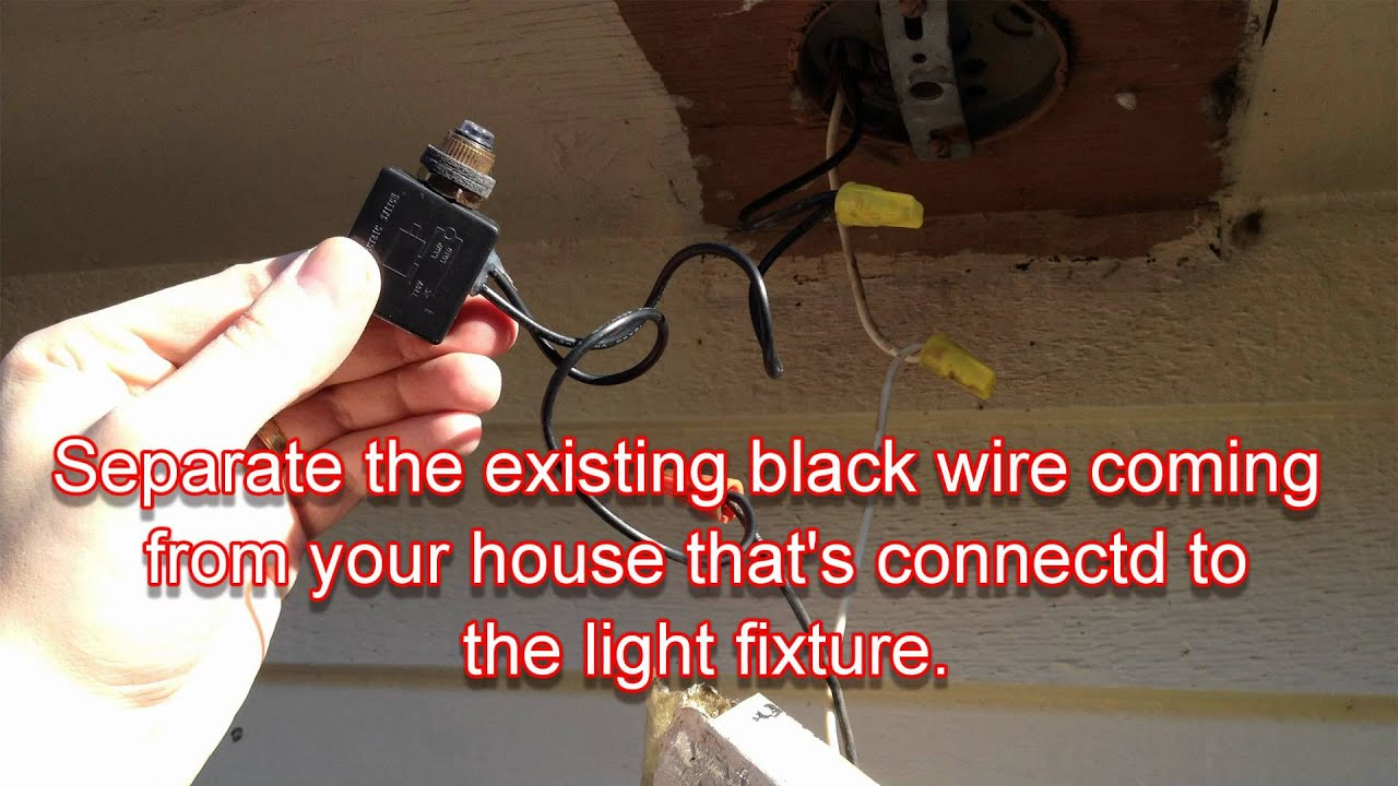 wiring diagram for outside light sensor labeled squid external anatomy how to convert any outdoor turn on automatically at night - youtube