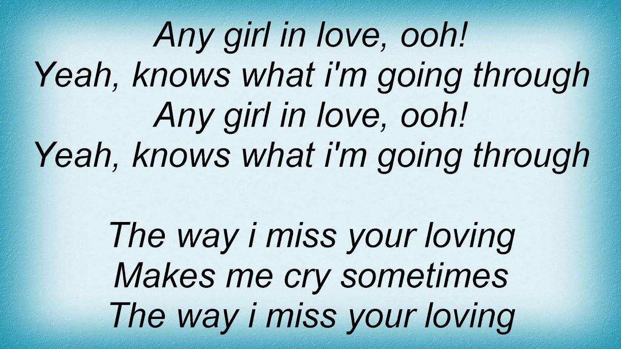 any girl lyrics