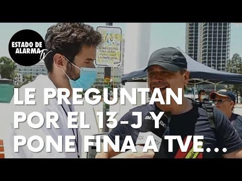 Le preguntan a este hombre por el 13-J y la manifestación de Colón y pone fina a TVE