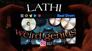 LATHI - WEIRD GENIUS (FT. SARA FAJIRA) REAL DRUM COVER