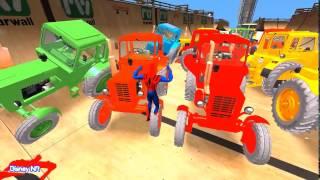 Человек-паук против Трактора Мультик про трактор Человек паук на тракторе мульт