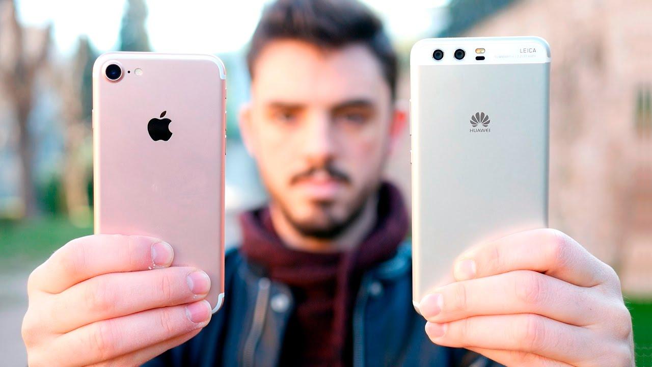 HUAWEI P10 vs iPHONE 7, ¡comparativa en español! - YouTube