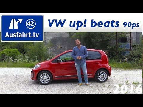 2016 Volkswagen VW up! beats 90PS - Fahrbericht der Probefahrt, Test, Review