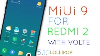 Official miui 9 for REDMI 2/ prime(lollipop)with volte