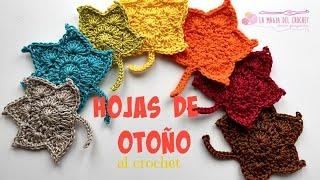 Cómo hacer hojas de Otoño al crochet/häkeln/uncinetto/ganchillo