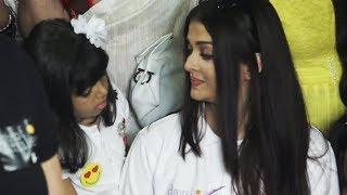 Aaradhya makes emotional Aishwarya Rai smile ! Watch Video