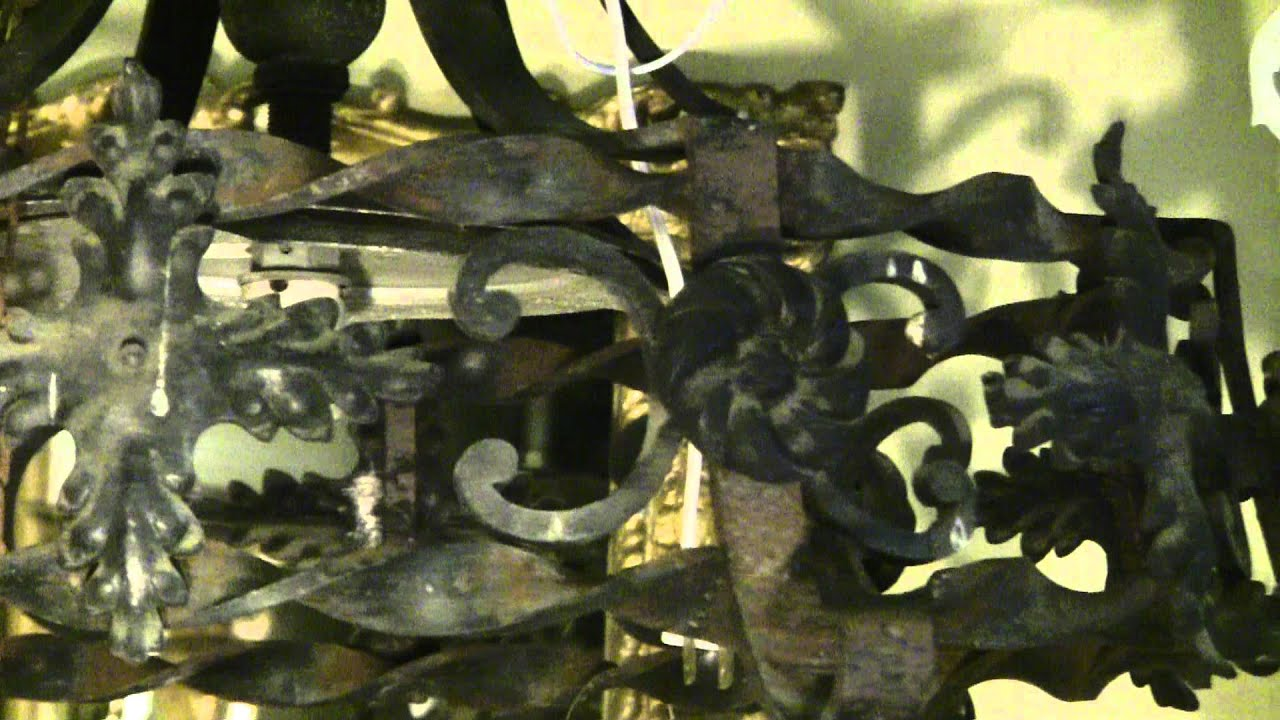 Chandelier Wrought Iron Chandelier 1900 s
