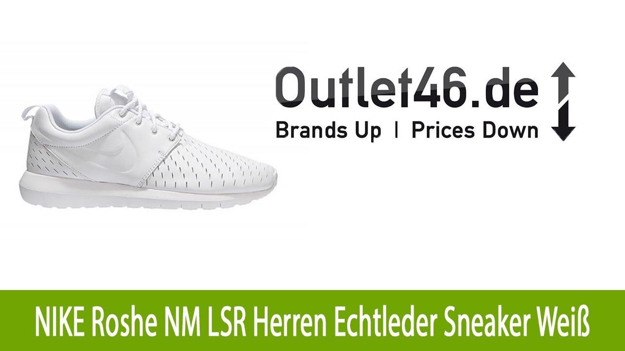 NIKE Roshe NM LSR Herren Echtleder Sneaker Weiß   O46