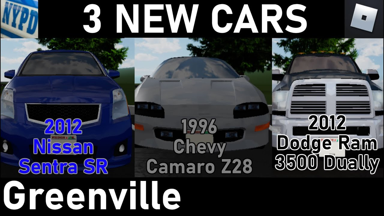 3 New Cars Roblox Greenville Beta Youtube