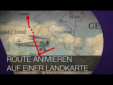 Route auf einer Karte animieren I After Effects TUTORIAL