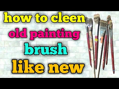 How to clean old brush like new,how to clean old oil paint brush like new