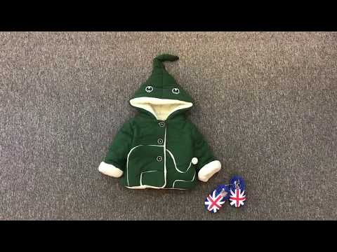 Áo Khoác Voi Nỉ Bông Siêu đáng Yêu Cho Bé -AK112 -Quần áo Trẻ Em